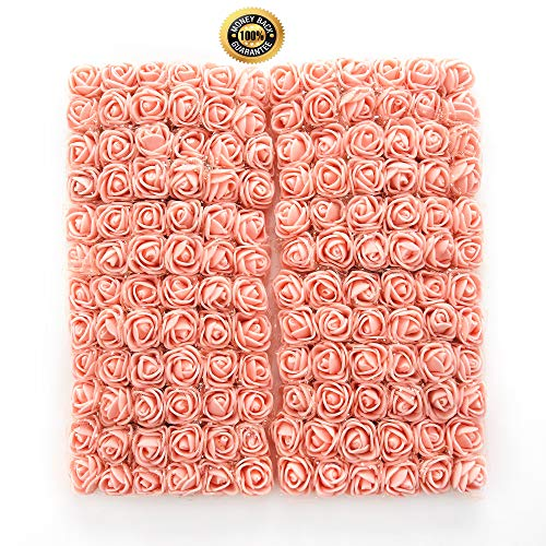 FLOWER 144pcs/pack 2cm Mini Foam Rose Artificial Bouquet Multicolor Rose Wedding Decoration Scrapbooking Fake Easter Gift ()