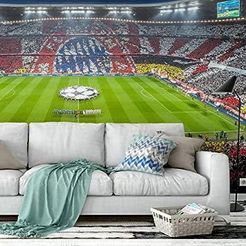 Fototapete Vlies Bayern Munchen Stadion Choreo Immer Weiter Arena Bundesliga Fussball Fans Wall Art 384x260 Cm