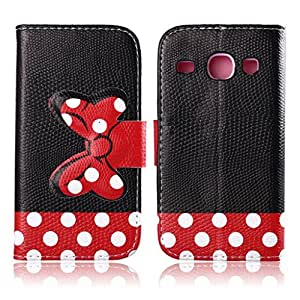 tramsla Premium PU Leather Wallet Cute Bow-knot Flip Case Cover Folio Stand for Samsung Galaxy S3 i9300 - Case 5
