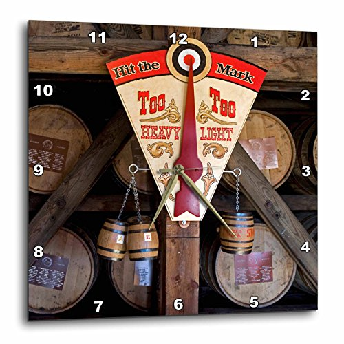3dRose dpp_90417_1 Kentucky Makers Mark Bourbon in Wood Distillery Luc Novovitch Wall Clock, 10 by 10-Inch