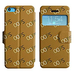 LEOCASE Vaya Typos Funda Carcasa Cuero Tapa Case Para Apple iPhone 5C No.1001915
