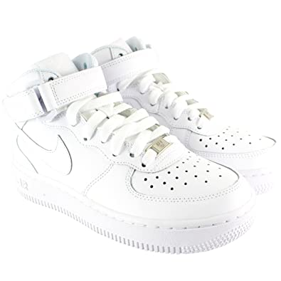hot sale online 33dfd e81cc Nike Herren Schuhe Air Force One Mid High Top Schnürsenkel Boot Style  Trainers Stiefel - Weiß