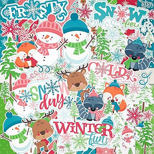 Die Cuts & Paper Set - Winter Woodland - by Miss Kate Cuttables - 16 Sheets of 12