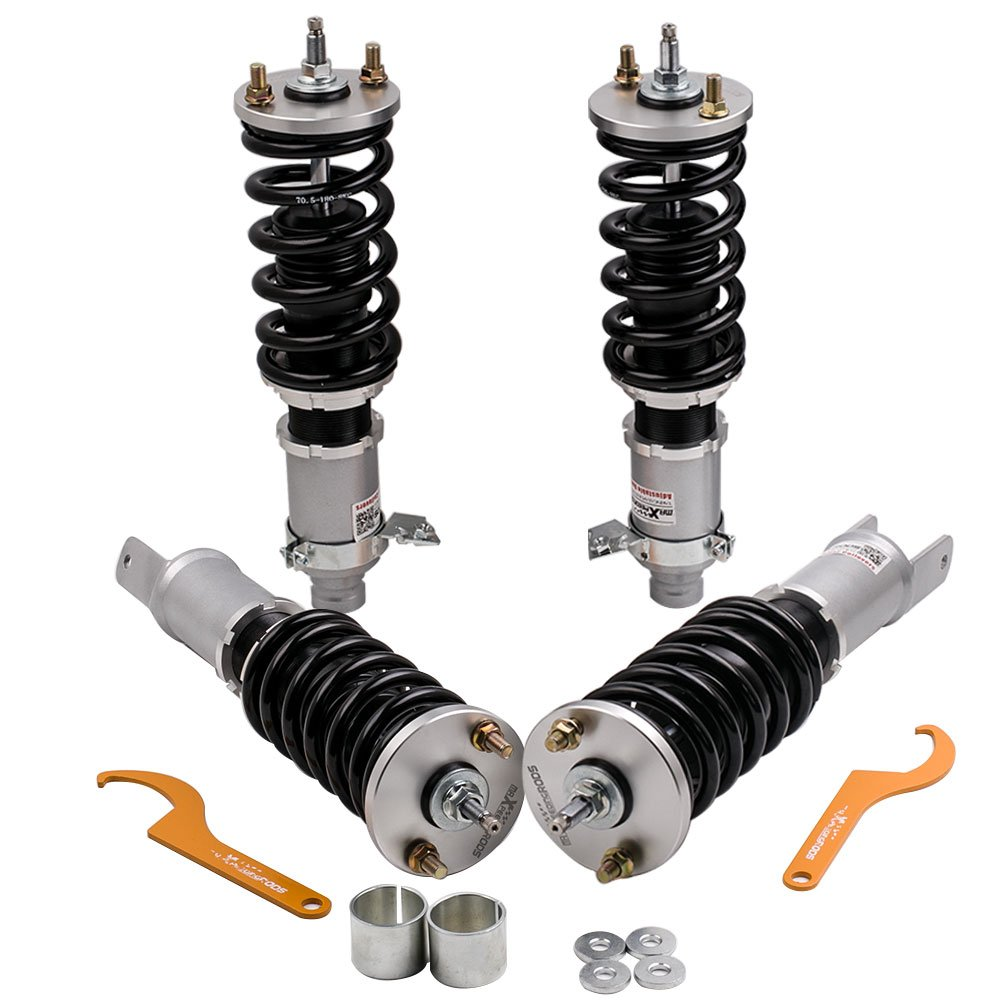 Coilovers for Honda Civic 91-95 EG3-EG9//Acura Integra 94-01 DB6-DB9 Suspension Coil Spring Shocks Struts with Adjustable Damper