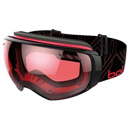 ed2f977670d Bolle Virtuose Adults Snow Snowmobile Goggles Eyewear - Black    Red Vermillon Gun Aurora