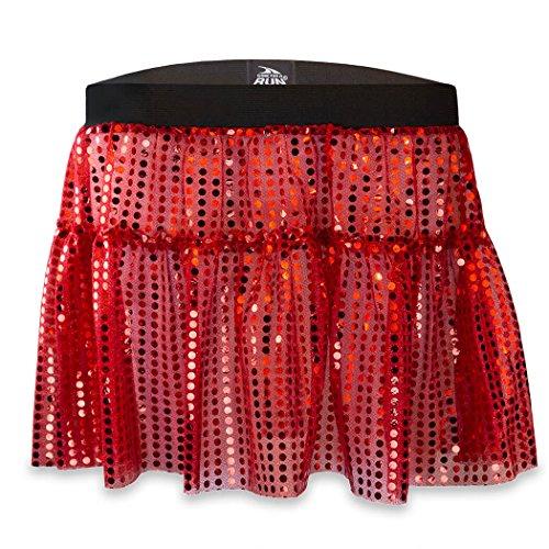 Gone For a Run Running Costume Tutu Skirt Glitter Sequined Tutu | Red]()