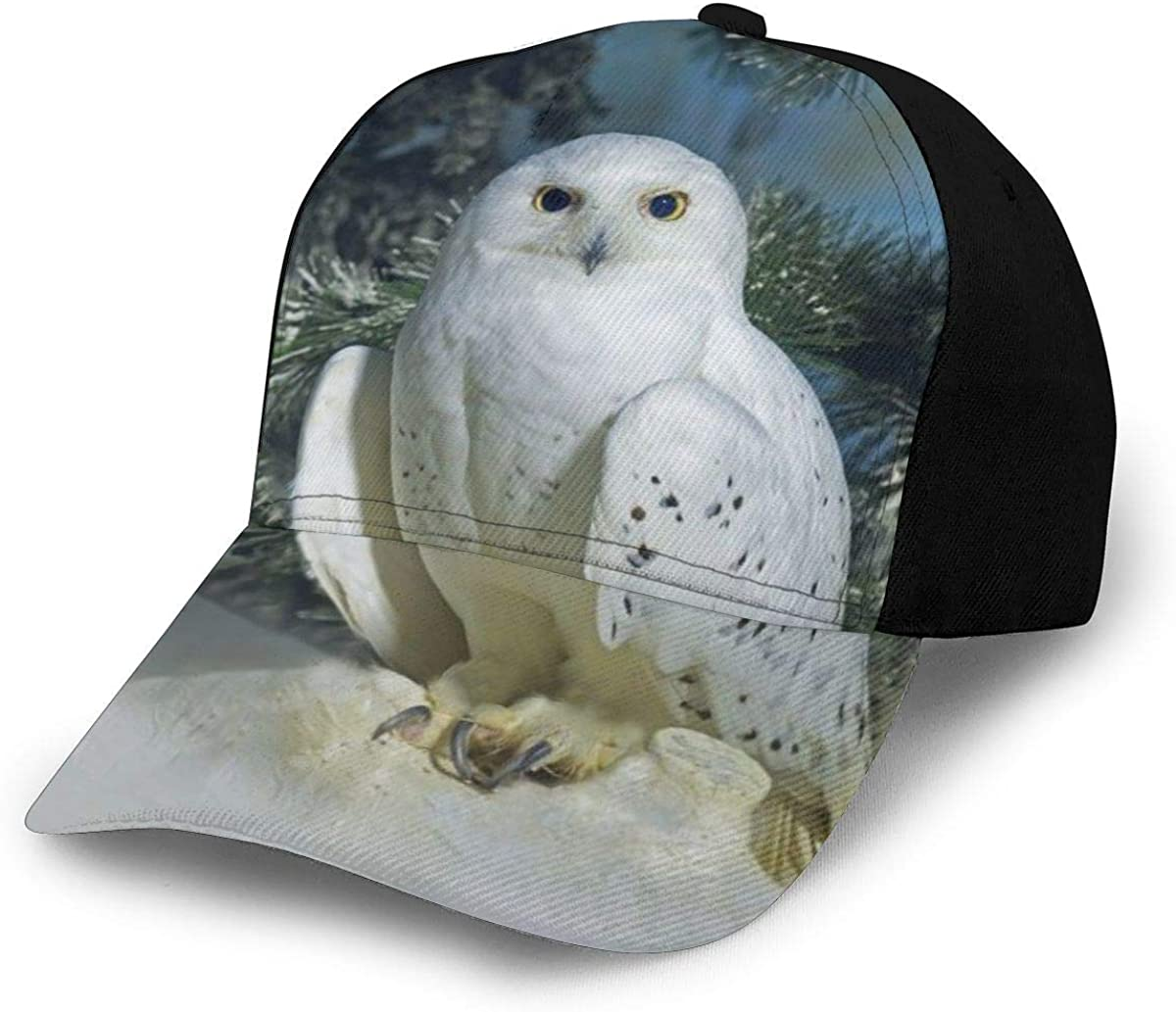 Winter White Owl Wallpaper Classic Baseball Cap Men Women Dad Hat Twill Adjustable Size