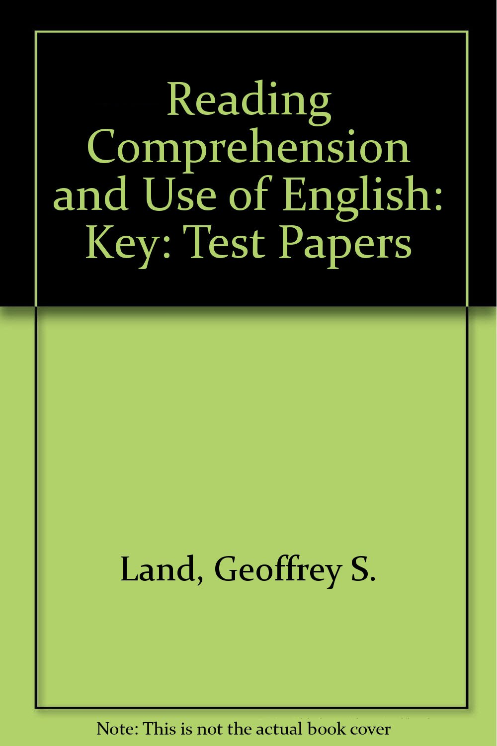 - Reading Comprehension' & 'Use Of English Test Papers' Teacher' Key