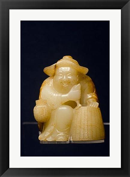 Amazon.com: China, Shanghai, Shanghai Museum. Carved jade fisherman ...