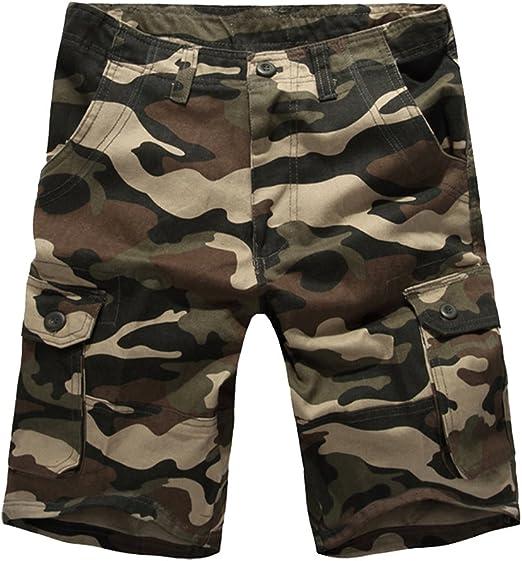 LaoZanA Cargo Shorts Bermudas Hombre Pantalones Cortos Camuflaje Multi-Bolsillo Tama/ño Grande