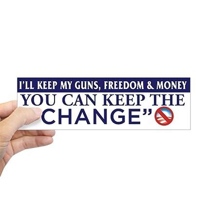 Cafepress ill keep my guns freedom money bumper stic