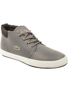 4bd57d58fc1e9 Lacoste Mens Ampthill Terra TWD2 Sneakers in Grey Black