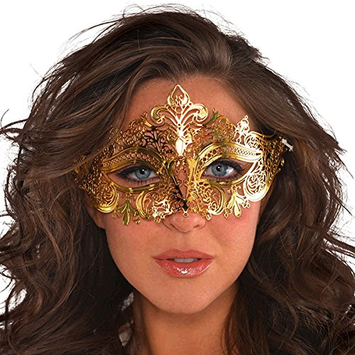 Discount Amscan Gold Filigree Mask Halloween hot sale