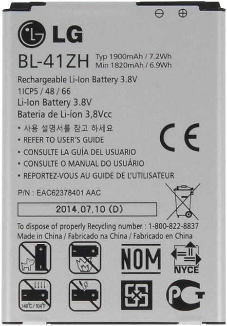 Bateria Original BL-41A1H LG D390N F60 LS660 2100mAH: Amazon.es ...