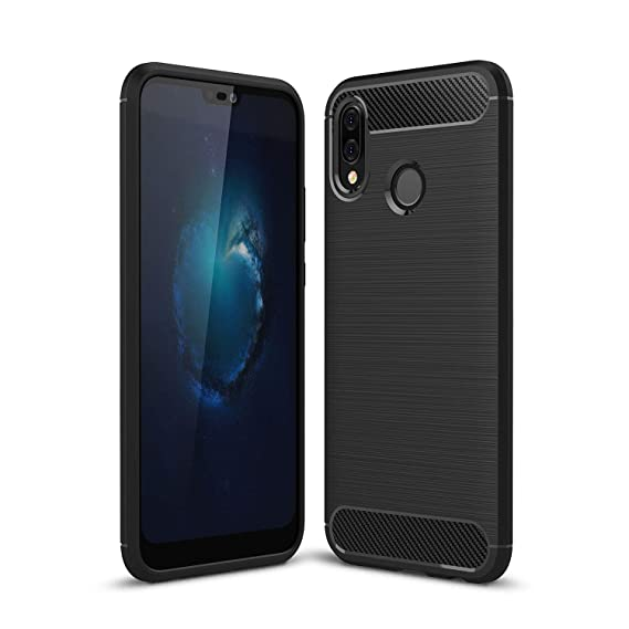 cheap for discount b0c5a 749db MYLB Compatible with Huawei P20 Lite Case,Lightweight Carbon Fiber Design  Flexible Soft TPU Case Highstrength Shockproof Protective Back Cover to ...