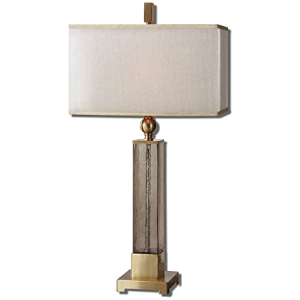 Bon Uttermost 26583 1 Caecilia Amber Glass Table Lamp