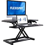 FLEXISPOT Stand up Desk Converter - 36 inches Cubicles Corner Standing Desk Riser Computer Riser with Deep Keyboard Tray for