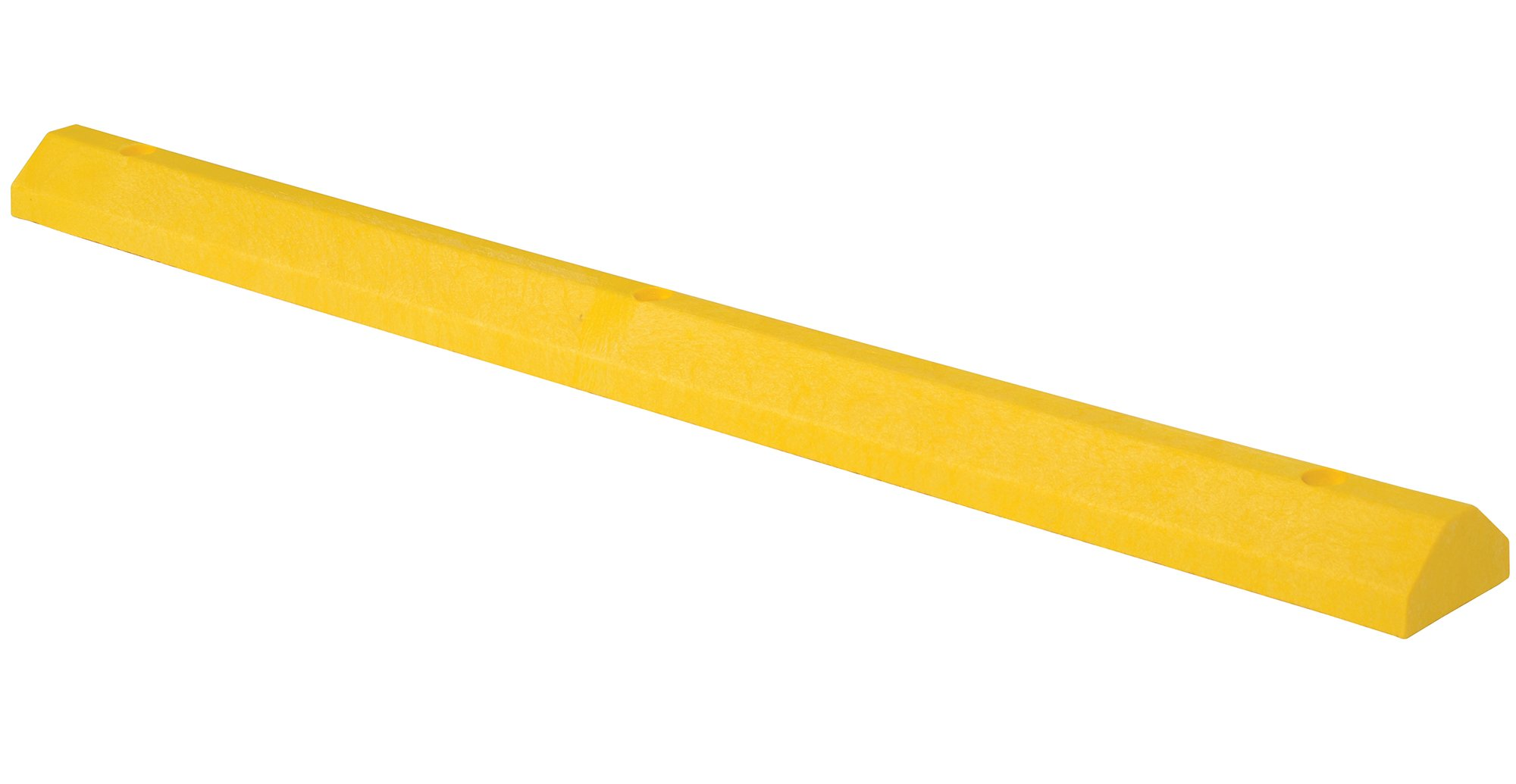 Vestil CS-33-Y Recycled Plastic Car Stop, 72'' Length X 6'' Width X 3.25'' Height, Yellow
