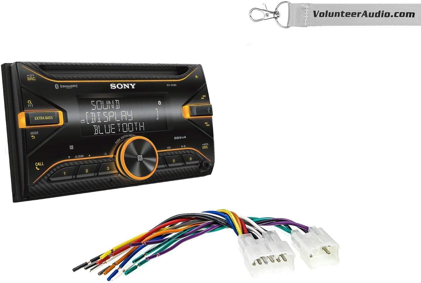 Sony WX-920BT Double Din Radio Install Kit With Sirius XM Ready USB//AUX CD Player Fits Non Amplified 1987-2009 Toyota 4Runner 1995-2015 Tacoma 1987-2015 Camry
