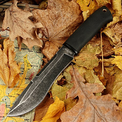 Tactical Knife - Survival Fixed Blade Knife - Best Outdoor Military Knives for Camping Bushcraft or Self Defense - Large Stainless Steel Blade Full Tang Handle Tactical Knife - Grand Way 2771 U-BQ by Grand Way (Image #4)