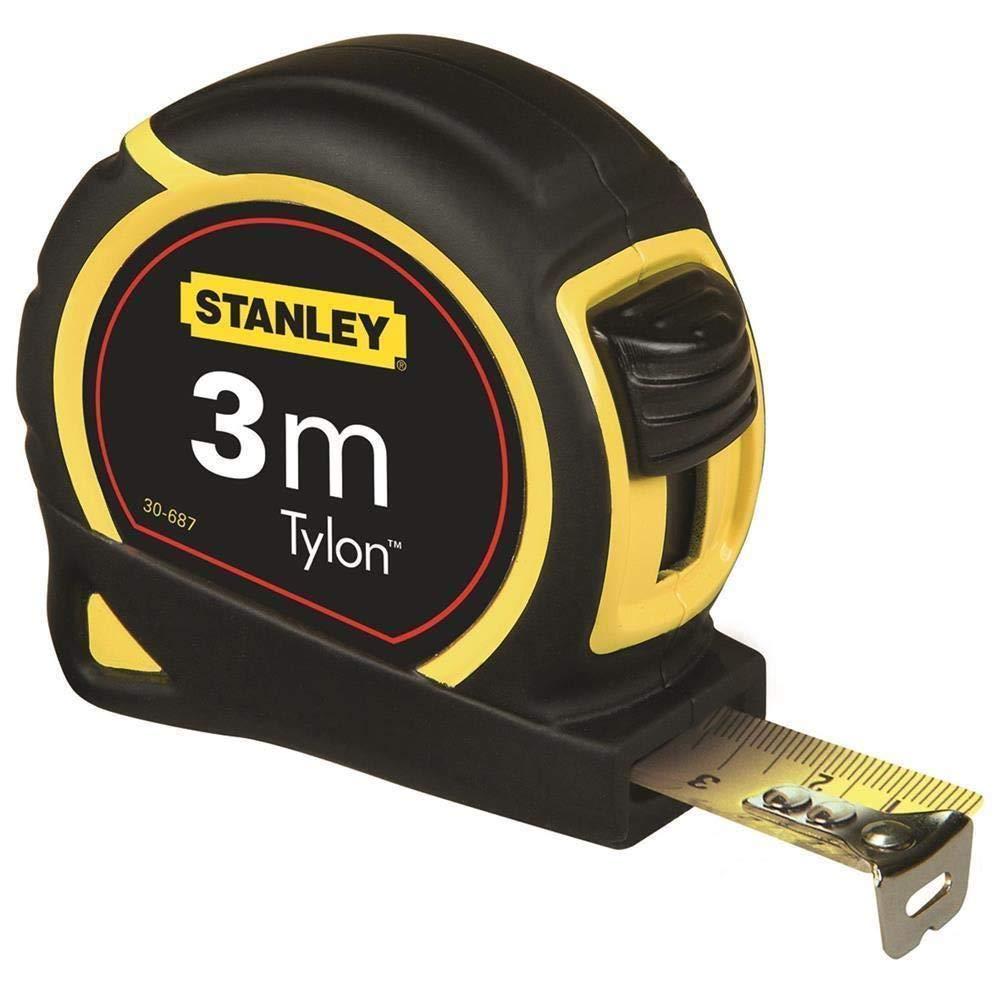 STANLEY 1-30-687 Flexómetro de cinta de acero, Único, 3 m
