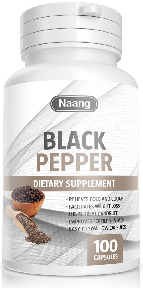 Black Pepper Extract 400mg 100 Capsules Supplements - Improves Digestion & Cognitive Function - Appetite Stimulant - Non GMO - Gluten & Gelatin Free - 100% Money Back Guarantee