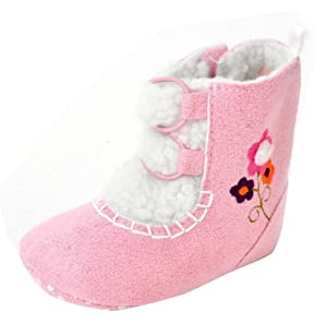 Sagton Baby Girls Winter Warm Flats Cotton Boot Toddler Prewalker Crib Shoes (US:4.5)