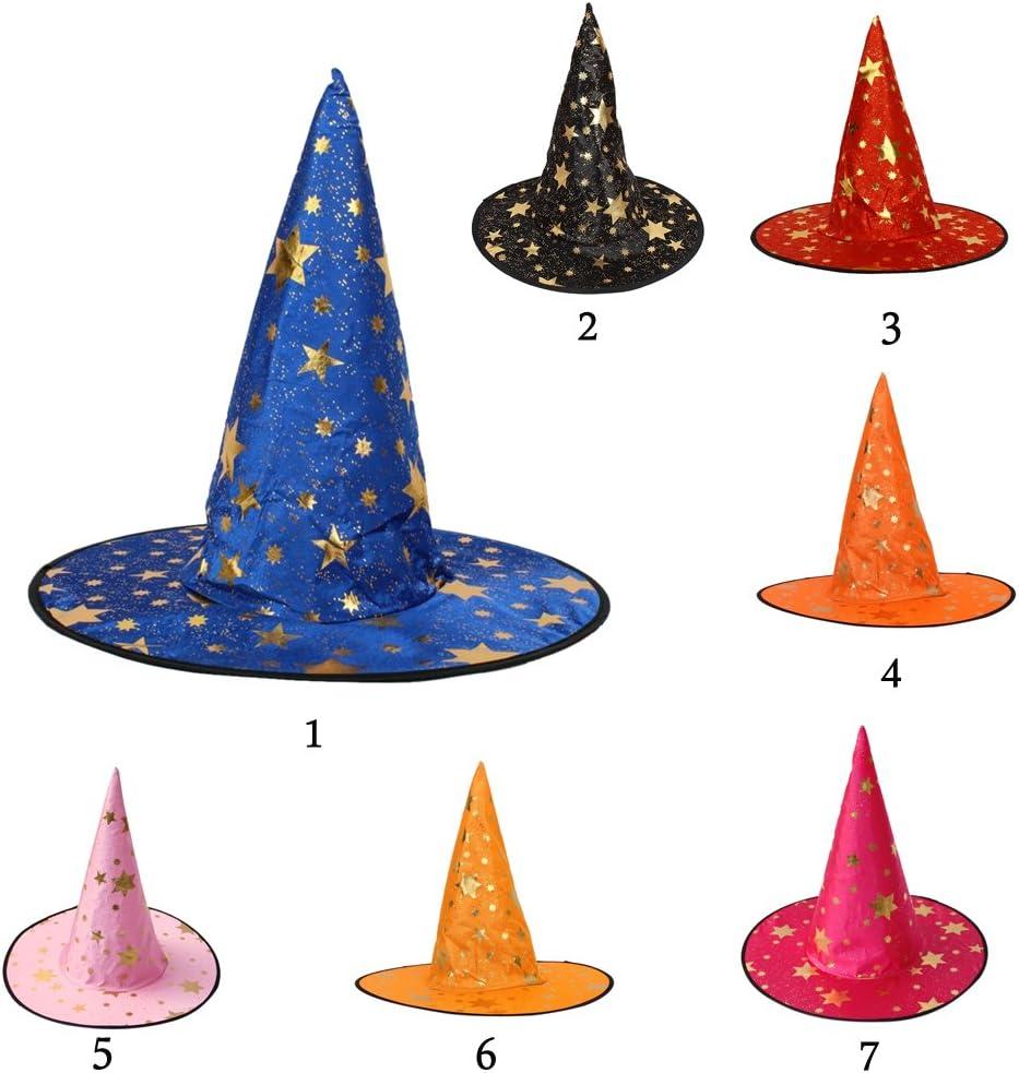 costume di Halloween per bambini taglia unica Cappello da strega o da mago Misto cotone Blau