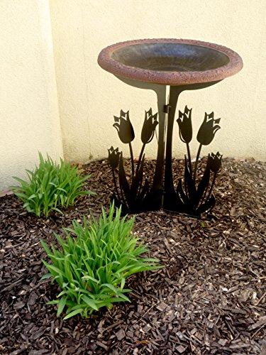 Tierra Garden 4 1761t Semi Gloss Bird Bath Bowl With Red