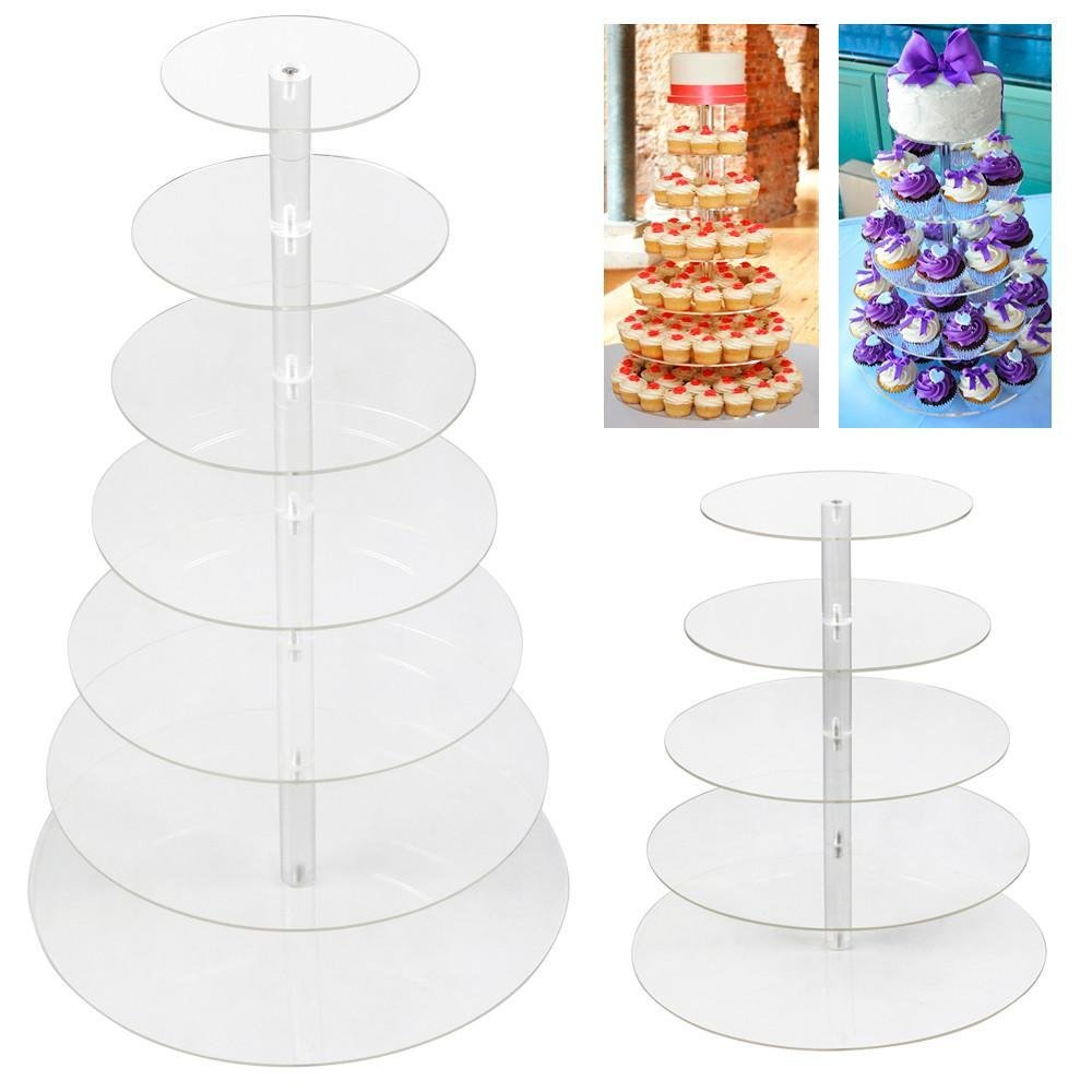 Amazon.com   Yaheetech 5 Tier Round Clear Acrylic Cupcake Pole Stand Great Decor for Christmas Party Cupcake Stands  sc 1 st  Amazon.com & Amazon.com   Yaheetech 5 Tier Round Clear Acrylic Cupcake Pole Stand ...