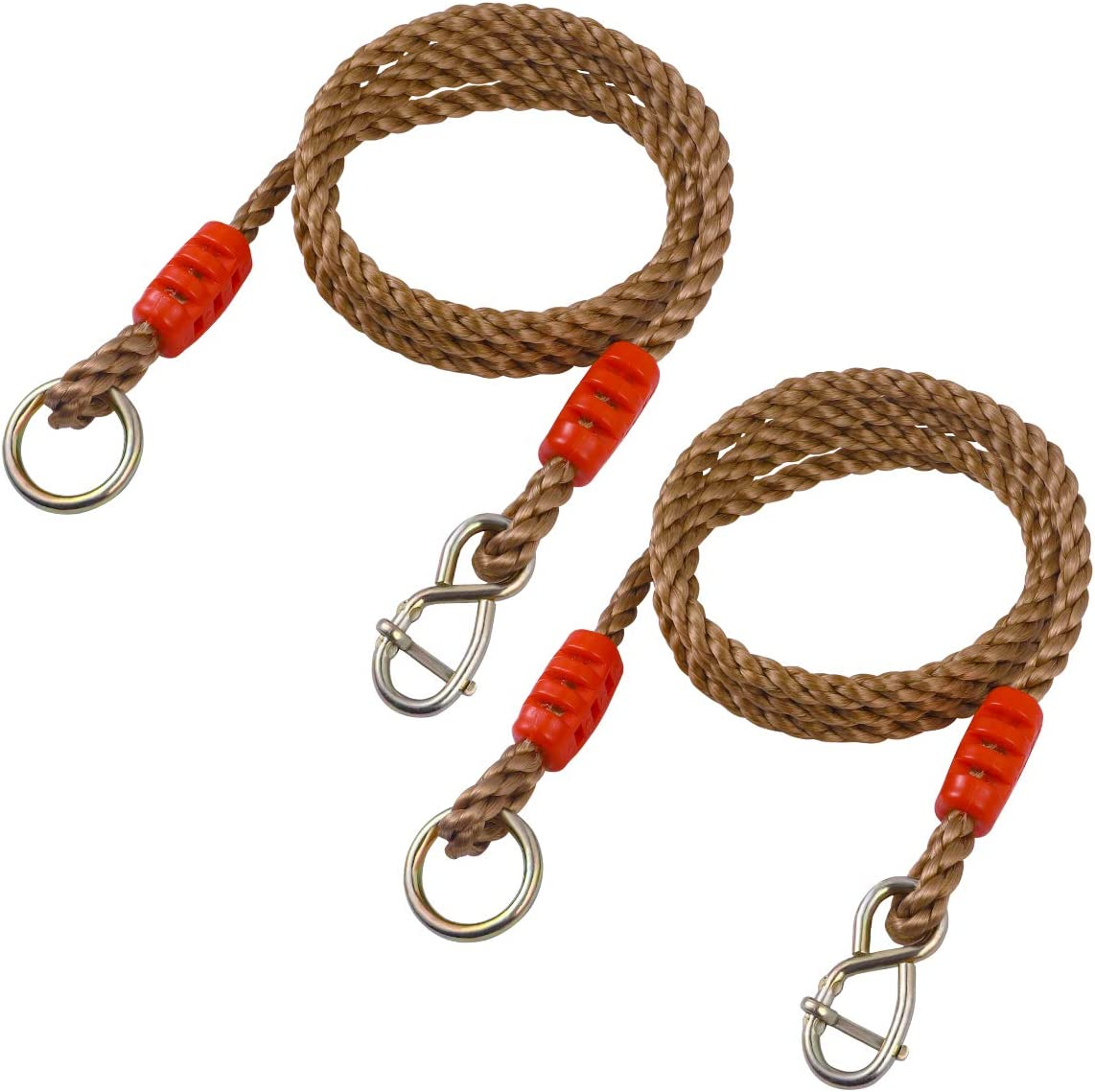 Yardwe Tree Swing Rope Heavy Duty Hammock Chair Straps Load Bearing 300kg 1 Pair 1 8m Garden Outdoor