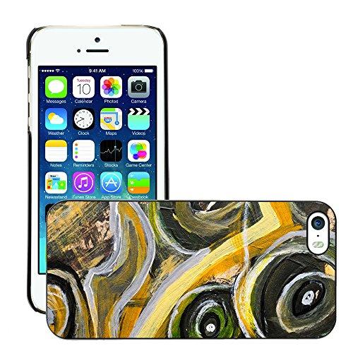 Premio Sottile Slim Cassa Custodia Case Cover Shell // V00001817 Peinture abstraite // Apple iPhone 5 5S 5G