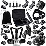 BAXIA TECHNOLOGY Accessories Bundle Kit for GoPro HERO 4 Black Silver GoPro HERO 3+ Black Silver GoPro HERO 3 Black Silver GoPro HERO 2 Black Silver SJ4000 SJ5000 SJ6000 Sony Action Mini Cameras Accessory Kit for GoPro 4 3+ 3 2 1
