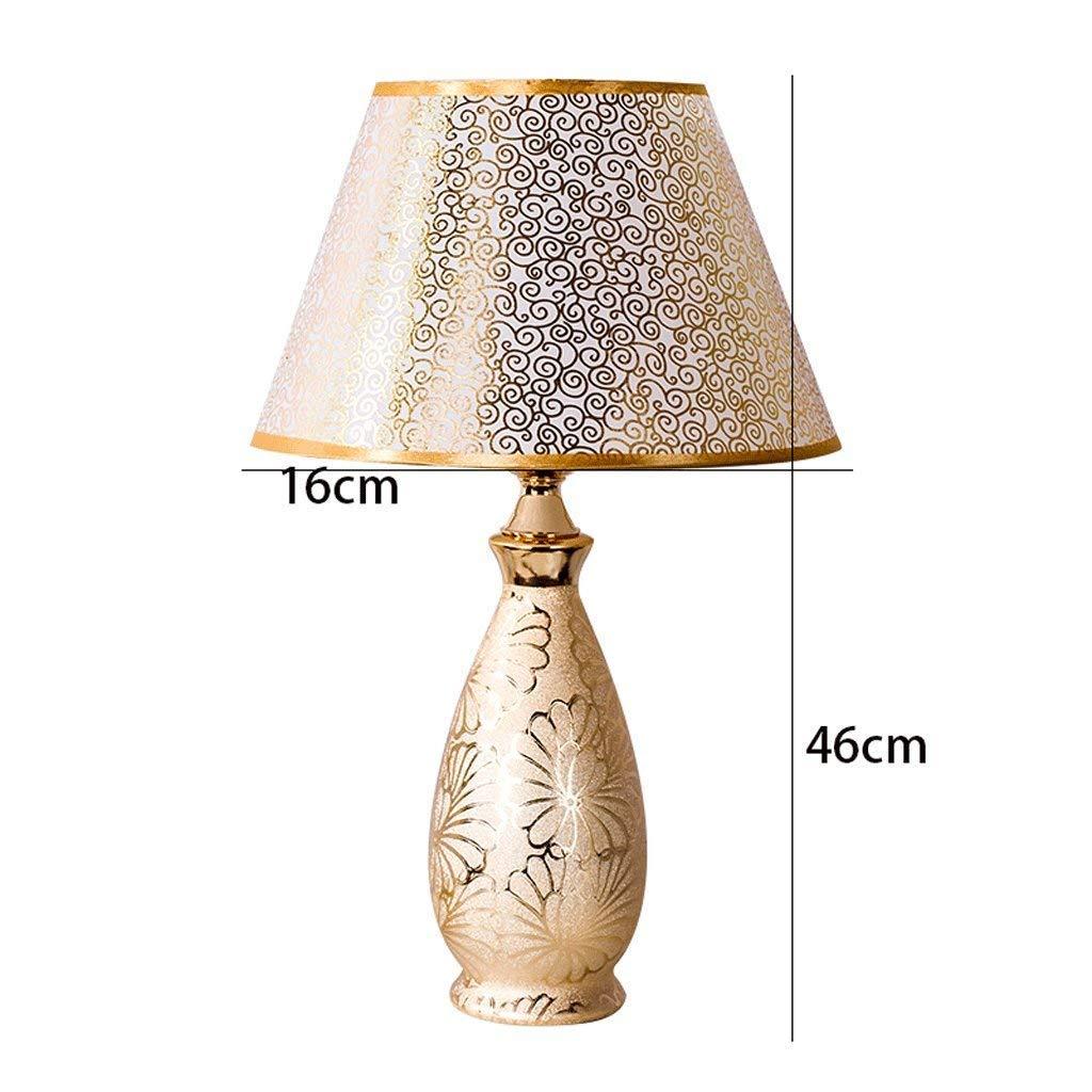 AME Tischlampe europäischen Keramik Tischlampe, Tischlampe, Tischlampe, Moderne minimalistischen Schlafzimmer Bett, warmes Wohnzimmer, H46Cm  W16Cm B07J9RMLCH    Neuer Markt  7af60b