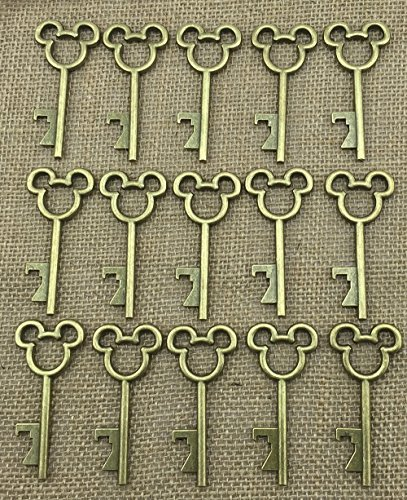40pcs Antique Skeleton Key Bottle Opener Bronze Wedding Favor Bridal Shower Gift Steampunk Decoration Birthday Part 3