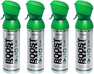 product image for Boost Oxygen Supplemental Oxygen to Go | All-Natural Respiratory Support for Health, Wellness, Performance, Recovery and Altitude (5 Liter Canister, 4 Pack, Natural)