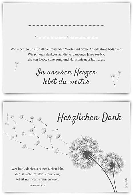 Trauerkarte Danksagung Beerdigung