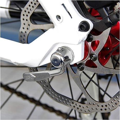 FHUILI Bicicleta Turbo Trainer Cierre RÁPIDO - Bicicletas pincho de Acero de Plata Cierre RÁPIDO - para Bicicletas de montaña Ciclismo Indoor Trainer - 4 PCS,A: Amazon.es: Deportes y aire libre