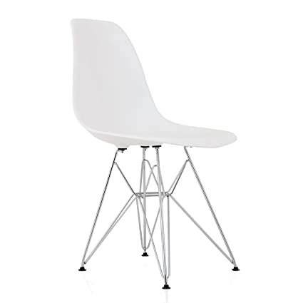 Admirable Amazon Com Cozyblock Dsr White Molded Plastic Dining Side Machost Co Dining Chair Design Ideas Machostcouk