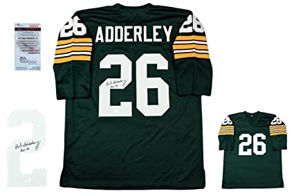 Herb Adderley Autographed Jersey - Witnessed - JSA Certified - Autographed  NFL Jerseys afc0ea2e0