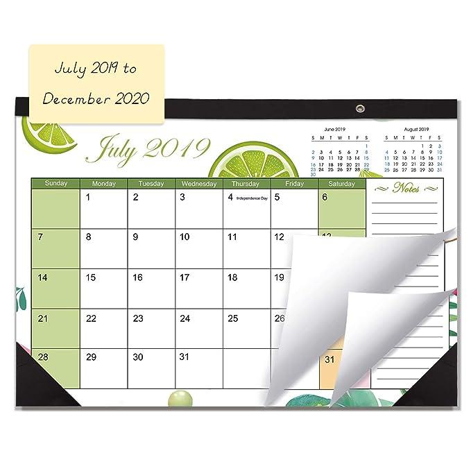 Amazon.com: Calendario de escritorio o pared 2019 con bloc ...