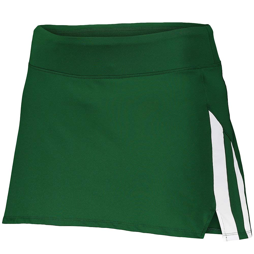 Augusta Sports Girls Small Dark Green/White Full Force Skort