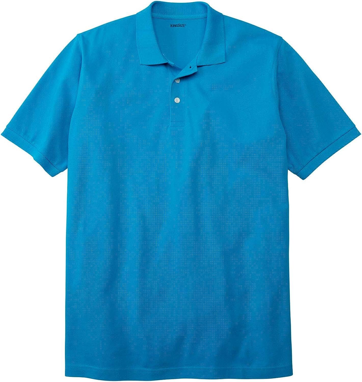 KingSize Mens Big /& Tall Piqu/é Polo Shirt 2 Pack
