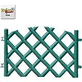 Steccato per giardino in PVC 70x42 recinzione per esterno serra aiuola 541625