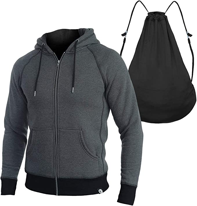 Quikflip 2-in-1 Reversible Backpack Hoodie (As Seen on Shark Tank) Unisex Heavyweight Hero Hoodie