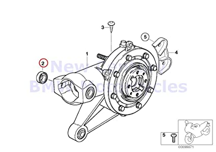 Amazon Com Bmw Genuine Motorcycle Rear Axle Drive Needle Bearing