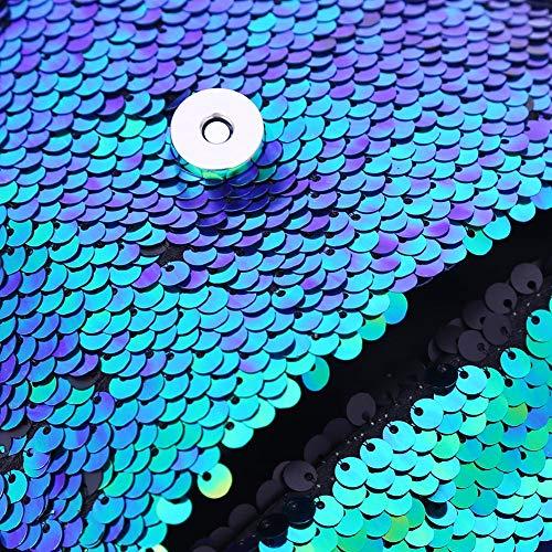 Pochette Sirène monnaie À Paillettes Bandoulière Crossbody Sac Brillant Green Magie Porte YC4wqYxB8