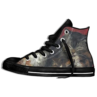 Oil Painting Cat Sports Shoes For Men's Cool Shoes