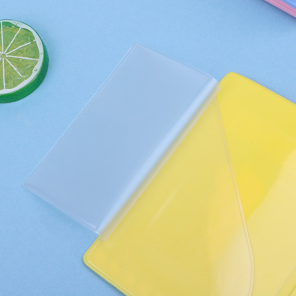 hibyebuying Passport Holder,Cute Sweet Colorful Candy Silicone Travel Passport Holder Case Waterproof Cover for Women