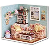 Flever Dollhouse Miniature DIY House Kit Creative Room With Furniture and Cover for Romantic Artwork Gift(Reunion With Happiness)